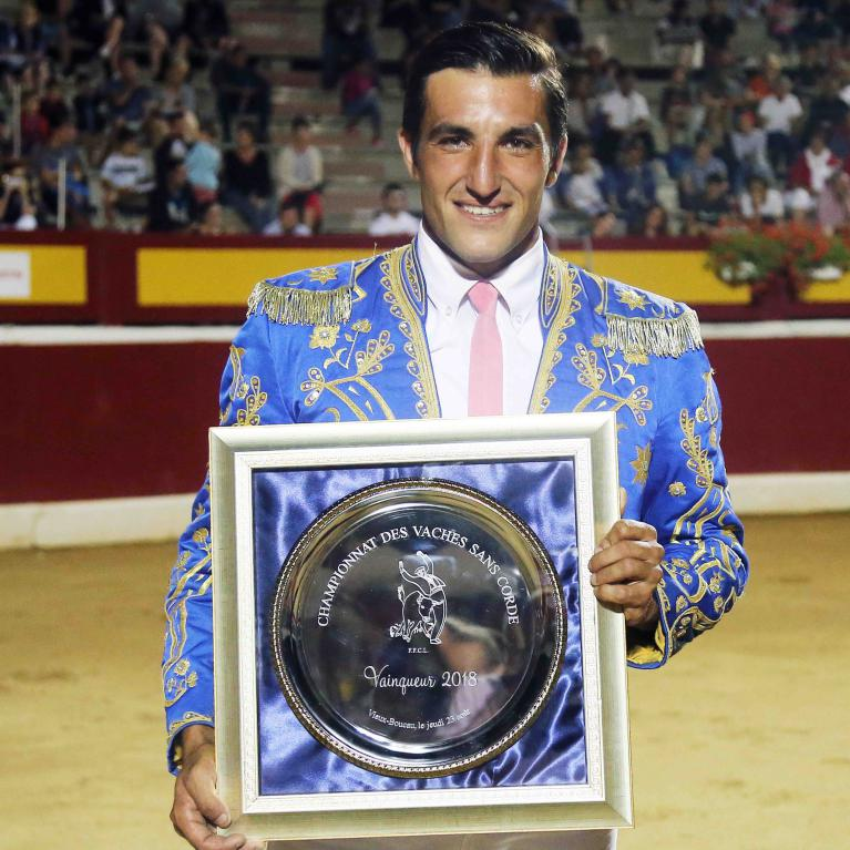 Champion de france des vaches sans corde 2018, Louis Navarro